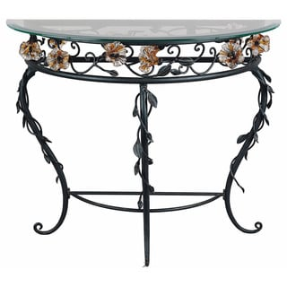 Amber Mist Blacksmith Bronze Console Table