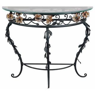 Amber Mist Blacksmith Bronze Console Table