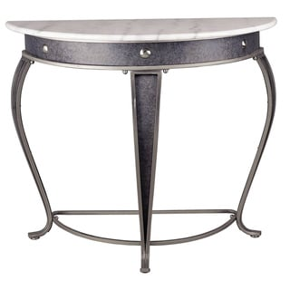 Legacy Brushed Steel Console Table