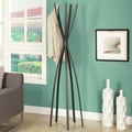 Satin Black Metal 72-inch Contemporary Coat Rack