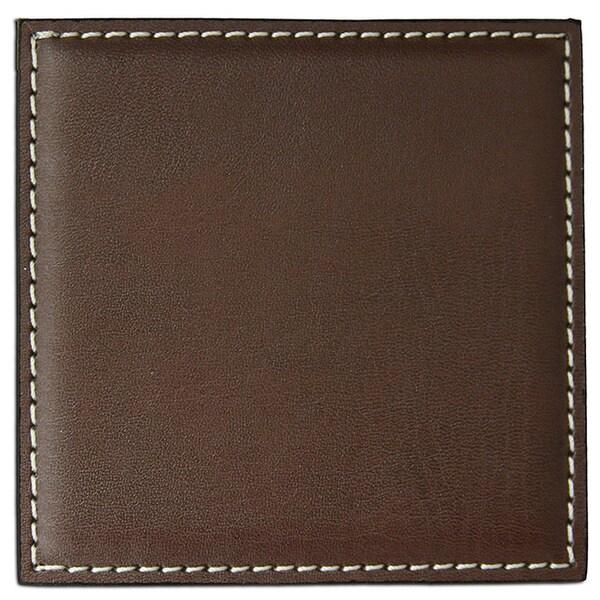 Brown Low Profile Square Coaster (4-inch)