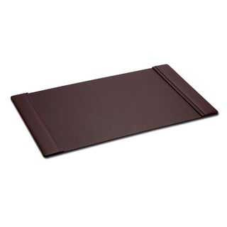 "Chocolate Brown Leather Side Rail Desk Pad (38""x24"")"