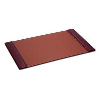 "Mocha Leather Side Rail Desk Pad (38""x24"")"