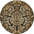 Amalfi Paradise Chocolate Brown Area Rug (5'3 Round)