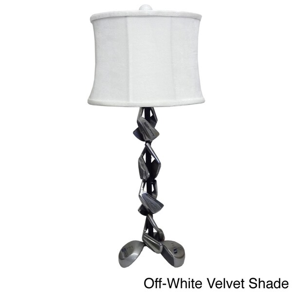 Golf Clubs 1-light Silver Table Lamp