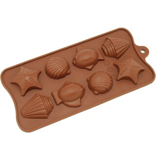 Freshware 8-cavity Tropical Chocolate/ Candy/ Clay Silicone Mold