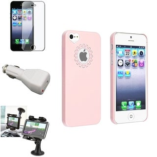 BasAcc Case/ LCD Protector/ Mount/ Car Charger for Apple iPhone 5/ 5S