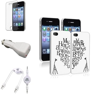 BasAcc Case/ Audio Cable/ LCD Protector for Apple iPhone 4/ 4S