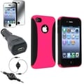 BasAcc Case/ LCD Protector/ Car Charger for Apple iPhone 4/ 4S