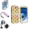 BasAcc Case/ LCD Protector/ Windshield Mount for Samsung Galaxy S3