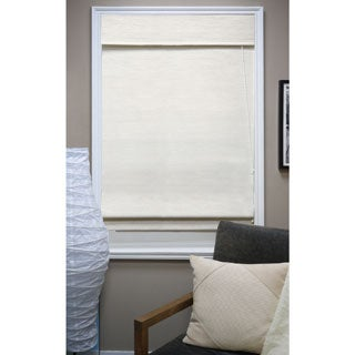 Nevada Vanilla Fabric Roman Window Shade