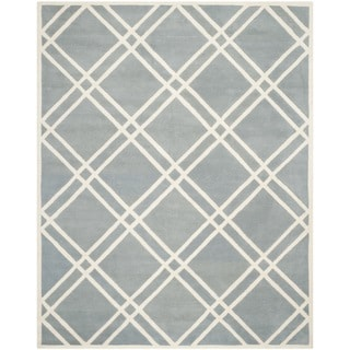 Safavieh Handmade Moroccan Chatham Blue/ Ivory Wool Area Rug (8'9 x 12')