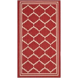 Safavieh Indoor/ Outdoor Courtyard Red/ Beige Rug (2'7 x 5')