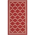 Safavieh Indoor/ Outdoor Courtyard Red/ Beige Rug (2'7 x 5')