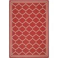 Safavieh Indoor/ Outdoor Courtyard Red/ Beige Rug (6'7 x 9'6)