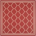 Safavieh Indoor/ Outdoor Courtyard Red/ Beige Rug (6'7 Square)