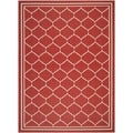 Safavieh Indoor/ Outdoor Courtyard Red/ Beige Rug (8' x 11')