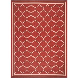 Safavieh Indoor/ Outdoor Courtyard Red/ Beige Rug (9' x 12')