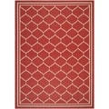 Safavieh Indoor/ Outdoor Courtyard Red/ Beige Rug (9' x 12')
