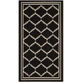 Safavieh Indoor/ Outdoor Courtyard Black/ Cream Rug (2' x 3'7)