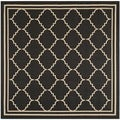 Safavieh Indoor/ Outdoor Courtyard Black/ Cream Rug (6'7 Square)