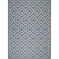Safavieh Indoor/ Outdoor Courtyard Blue/ Beige Polypropylene Rug (5'3'' x 7'7'')