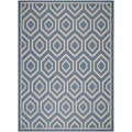 Safavieh Indoor/ Outdoor Courtyard Blue/ Beige Polypropylene Rug (8' x 11')