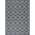Safavieh Indoor/ Outdoor Courtyard Navy/ Beige Low-pile Rug (6'7 x 9'6)