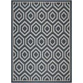 Safavieh Indoor/ Outdoor Courtyard Navy/ Beige Polypropylene Rug (8' x 11')