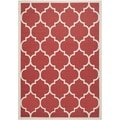 Safavieh Indoor/ Outdoor Courtyard Red/ Bone Rug (6'7 x 9'6)