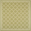 Safavieh Indoor/ Outdoor Courtyard Green/ Beige Polypropylene Rug (4' Square)