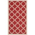 Safavieh Indoor/ Outdoor Courtyard Red/ Bone Geometric-pattern Rug (2' x 3'7)