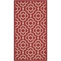 Safavieh Contemporary Indoor/ Outdoor Courtyard Red/ Bone Rug (2' x 3'7)