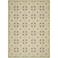 Safavieh Indoor/ Outdoor Courtyard Beige/ Sweet Pea Rug (4' x 5'7)