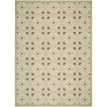 Safavieh Indoor/ Outdoor Courtyard Beige/ Sweet Pea Rug (5'3 x 7'7)