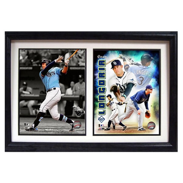 Tampa Bay Rays Evan Longoria 12x18 Double Frame Photo 11721146