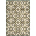 Safavieh Indoor/ Outdoor Hampton Light Blue/ Ivory Rug (5'1 x 7'7)