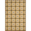 Safavieh Indoor/ Outdoor Hampton Camel/ Ivory Area Rug (5'1'' x 7'7'')