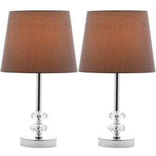 Safavieh Indoor 1-light Ashford Gray Shade Crystal Orb Table Lamp (Set of 2)
