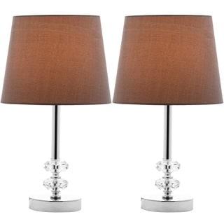 Safavieh Indoor 1-light Ashford Gray Shade Crystal Orb Table Lamp (Set of 2)