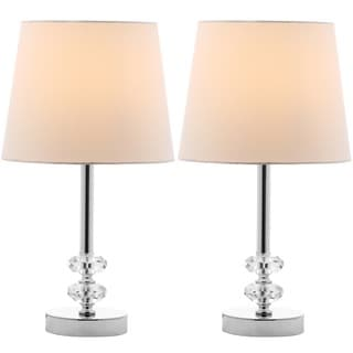 Safavieh Lighting 16-inch Ashford White Shade Crystal Orb Table Lamp (Set of 2)