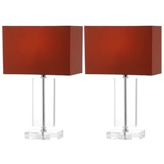 Safavieh Indoor 1-light Art Brown Shade Moderne Crystal Table Lamp (Set of 2)