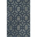 Safavieh Handmade Soho Grey/ Dark Blue New Zealand Wool/ Viscose Rug (8'3 x 11')