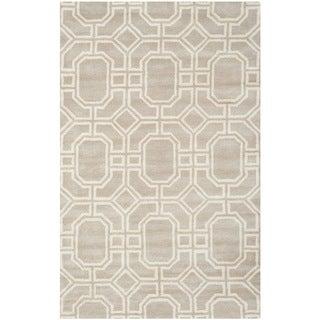 Safavieh Handmade Soho Grey/ Ivory New Zealand Wool/ Viscose Rug (7'6 x 9'6)
