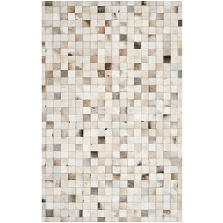 Safavieh Hand-woven Studio Leather Beige Leather Rug (8' x 10')