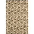 Safavieh Indoor/ Outdoor Hampton Brown/ Ivory Polypropylene Rug (8' x 11')