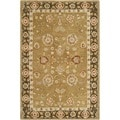 Safavieh Handmade Taj Mahal Gold/ Chocolate Wool Rug (4' x 6')