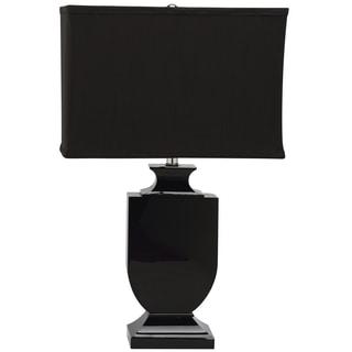 Safavieh Lighting 23.5-inches Darcy Black Shade Black Crystal Urn Table Lamp