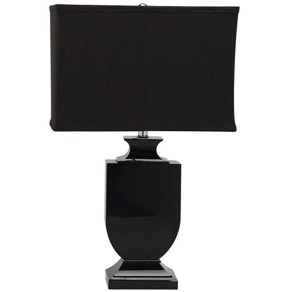 lighting 23 5 inch darcy black shade black crystal urn table lamp. Black Bedroom Furniture Sets. Home Design Ideas