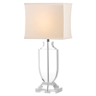 Safavieh Indoor 1-light Deirdre White Shade Crystal Urn Table Lamp